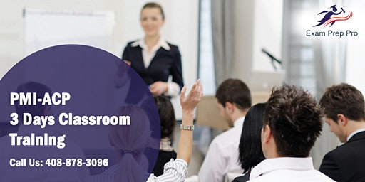 PMI-ACP 3 Days Classroom Training in Casper,WY
