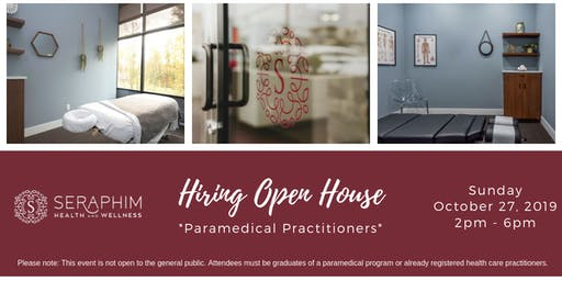 Hiring Open House - *Paramedical Practitioners*