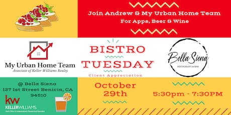 Bistro Tuesday With Andrew Urban & My Urban Home Team tickets