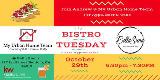 Bistro Tuesday With Andrew Urban & My Urban Home Team
