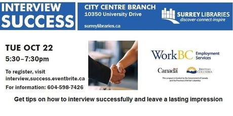 Interview Success Workshop tickets