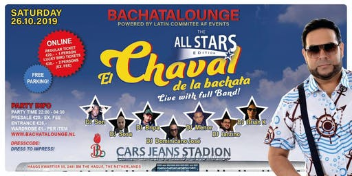 All Stars Edition met El Chaval de la Bachata LIVE on stage met FULL band