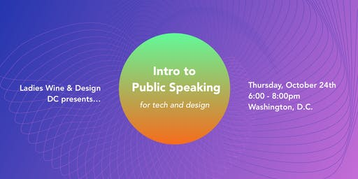 Intro to Public Speaking for Tech and Design