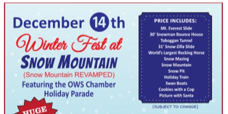 Winter Fest & Snow Mountain- Featuring the Holiday Parade tickets