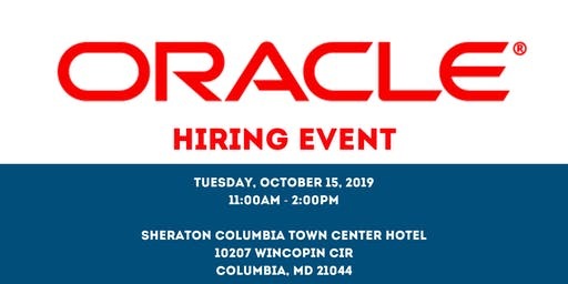Oracle Hiring Event - October 15, 2019