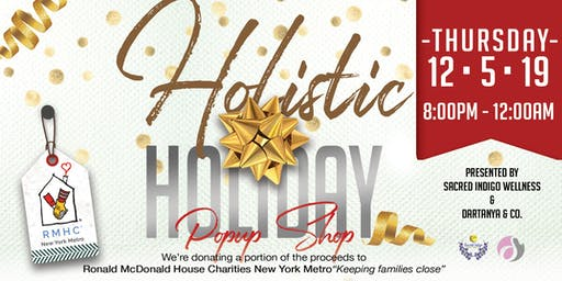 Holiday Fundraiser: Holistic Pop-up Shop/Party (Queens)