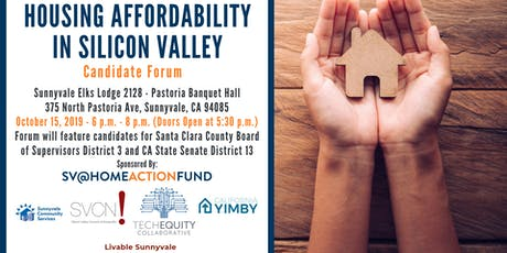 Housing Affordability in Silicon Valley: Candidate Forum Series #2 tickets