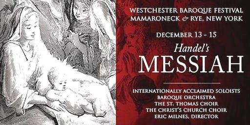 WESTCHESTER BAROQUE MESSIAH - December 14 2019