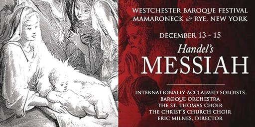 WESTCHESTER BAROQUE MESSIAH :  December 15, 2019