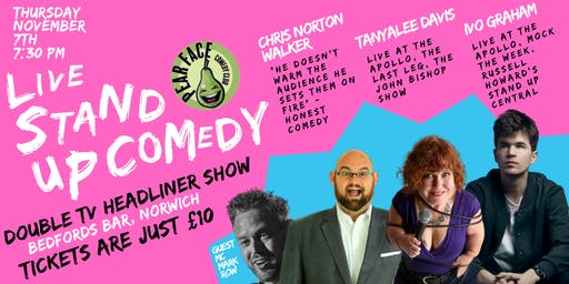 Live Stand up Comedy with headliners Ivo Graham & Tanyalee Davis