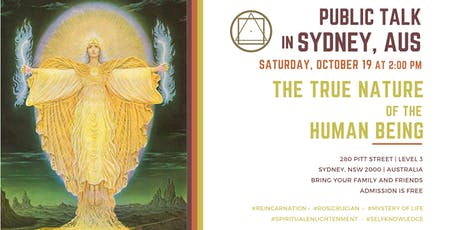 """Public Talk in Sydney  - """"The True Nature of the Human Being"""" tickets"""