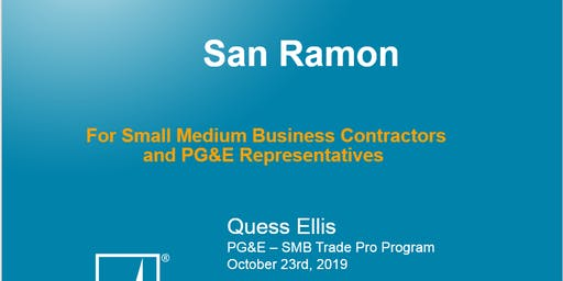 SMB Trade Pro Event- San Ramon Valley Conference Center