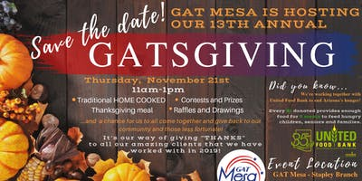 REALTORS & LENDERS - We invite you to the 13th Annual GATSGIVING!