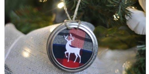 Mason Lid Tree Ornaments