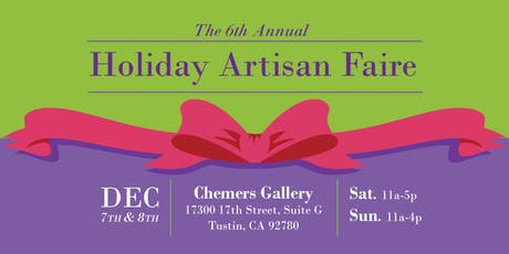 6th Annual Holiday Artisan Faire 2019 tickets