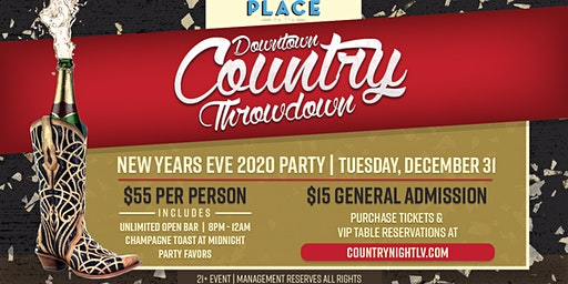 Downtown Country Throwdown's New Year's Eve Party