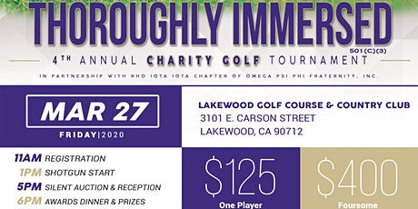 Thoroughly Immersed Golf Tournament tickets