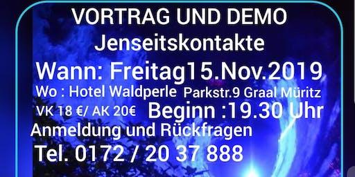 Vortrag und Demonstration Jenseitskontakte