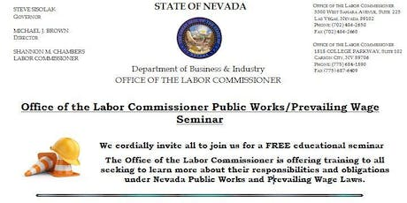 Office of the Labor Commissioner Public Works/Prevailing Wage Seminar tickets