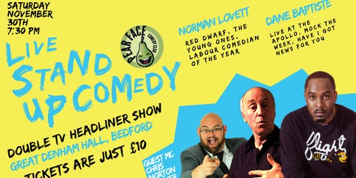 Live Stand up Comedy with Headliners Dane Baptiste and Norman Lovett