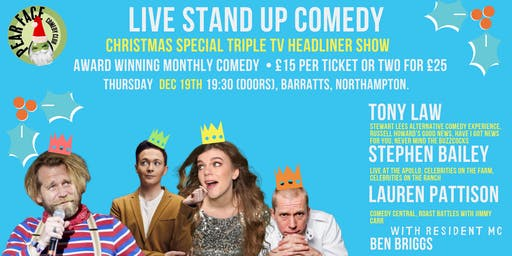 Christmas Stand up Show with Tony Law, Stephen Bailey & Lauren Pattison