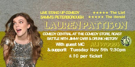Live Stand up Comedy with headliner Lauren Pattison tickets