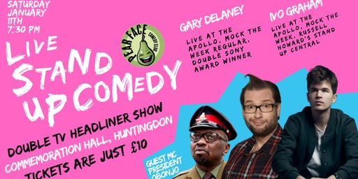 Live Stand up Comedy with Headliners Gary Delaney and Ivo Graham