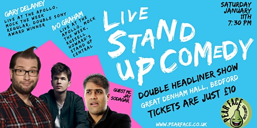 Live Stand up Comedy with Headliners Ivo Graham and Gary Delaney