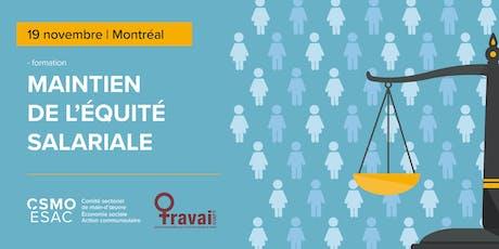 Maintien de l'équité salariale - Montréal,19 novembre billets