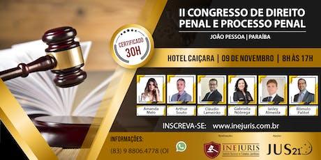 II Congresso de Direito Penal e Processo Penal - JOÃO PESSOA ingressos