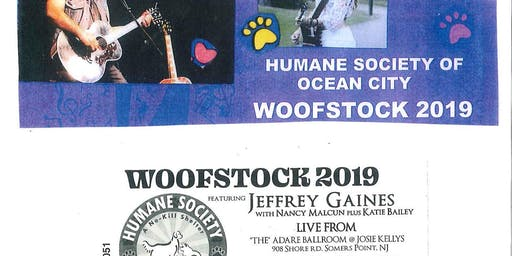 HSOC Woofstock 2019 featuring Jeffrey Gaines with Nancy Malcun
