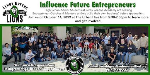 Leroy Greene Academy Entrepreneur Mentor Social