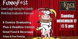 COMEDY WORKSHOP GRAD SHOW: Sunday, November 17 @ 5 pm