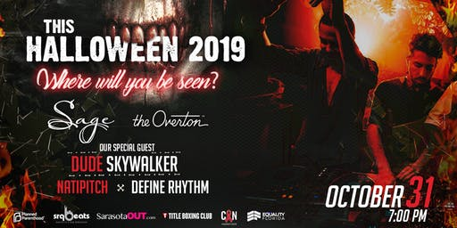 HALLOWEEN 2019 AT SAGE SRQ  & THE OVERTON RESTAURANTS.