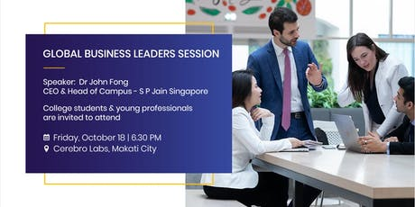 Study in one of the World's Top Business Schools - SP Jain [FREE Session] tickets