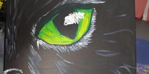 Black Cat Paint Night