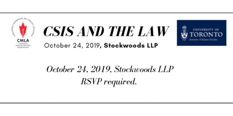 CSIS and the Law: A legal training session and town hall tickets