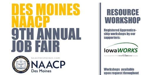 2019 Des Moines NAACP Job Fair & Resource Workshops