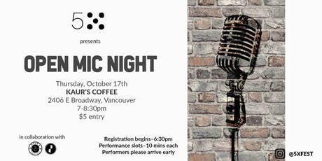 5X Fest Presents: Open Mic Night tickets