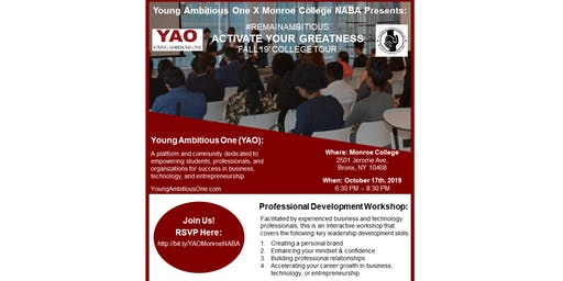 YAO X NABA: ACTIVATE YOUR GREATNESS