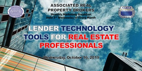 Lender Technology Tools for Real Estate Professionals tickets