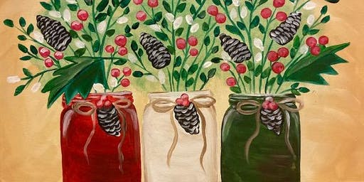 Paint with Art U - Christmas Mason Jars