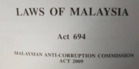 New Malaysia Anti-Corruption Commission Act 2009 Section 17A tickets