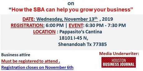 "Copy of IDA and IACCGH Host ""How the SBA Can Help You Grow Your Business"" tickets"