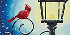 Paint with Art U - Cardinal Lampost