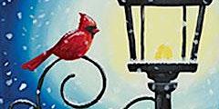 Paint with Art U - Cardinal Lampost
