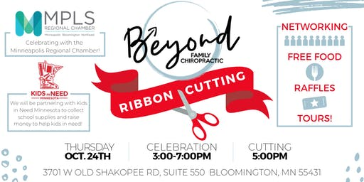 Beyond Family Chiropractic Ribbon Cutting Ceremony!!