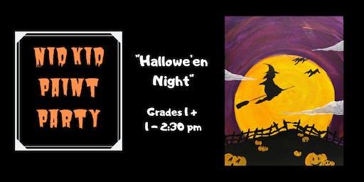"""""""Hallowe'en Night"""" NID Kid Paint Party"""