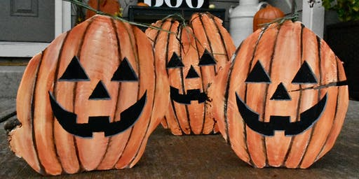 Wood Cookie Jack-O-Lantern Paint Lesson
