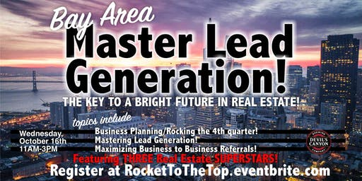 Bay Area Mastering Lead Gen Event